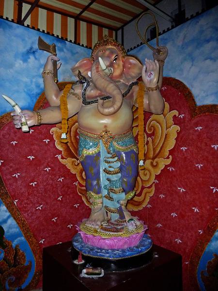 A Hindu elephant in Silom, Bangkok, Thailand.