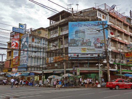A mass of constructed chaos in Banglamphu, Bangkok, Thailand.