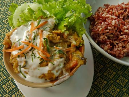 Lunch at May Kaidee's in Banglamphu, Bangkok, Thailand.