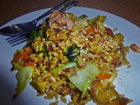 Curry fried rice at May Kaidee's in Banglamphu, Bangkok, Thailand.