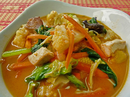Panang Curry at May Kaidee's in Banglamphu, Bangkok, Thailand.