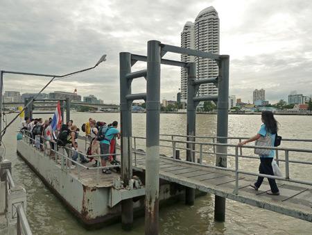 The squeaky Phra Arthit pier in Banglamphu, Bangkok, Thailand.