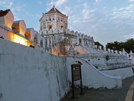 Phra Sumen Fort in Banglamphu, Bangkok, Thailand.