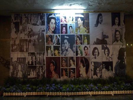 A pictorial shrine to the Queen in Banglamphu, Bangkok, Thailand.