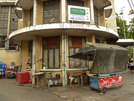 A squalid rotunda in Banglamphu, Bangkok, Thailand.