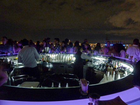The SkyBar on top of the 64-story State Tower in Bangkok, Thailand.