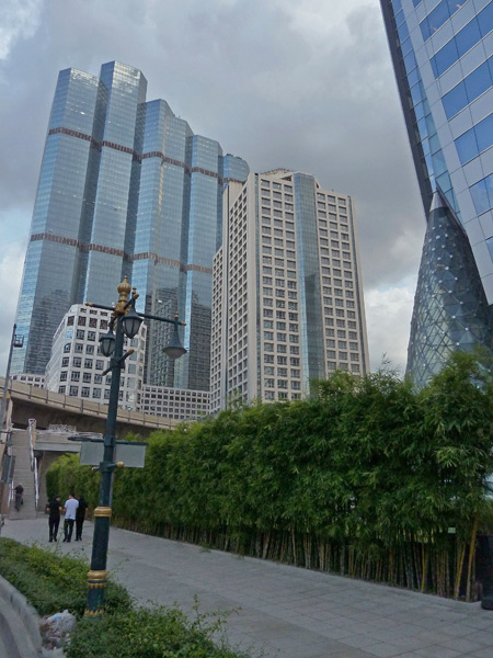 Some skyscrapers beckon you to climb them in Bangkok, Thailand.