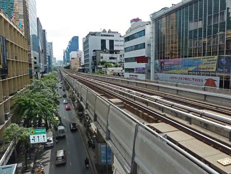The BTS SkyTrain track in Bangkok, Thailand.