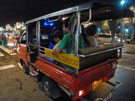 A tiny songthaew in Banglamphu, Bangkok, Thailand.