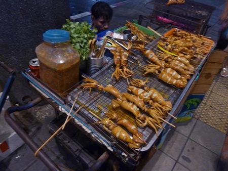 Get your squid fix near Thanon Sukhumvit in Bangkok, Thailand.