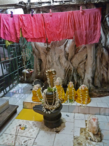 A Hindu shrine on Ripon Street in Kolkata, India.