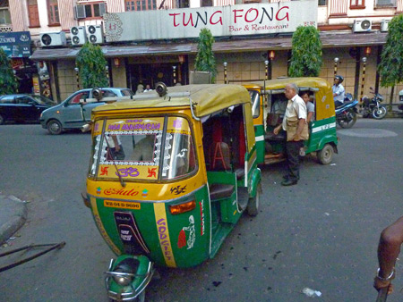 Another accidental photo--this one of autorickshaws in Kolkata, India.