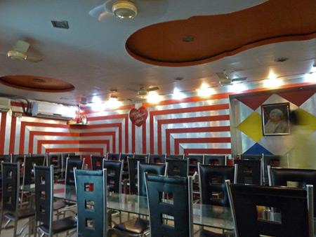 The Blue Sky Cafe on Sudder Street in Kolkata, India.