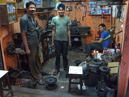 A small machine shop on Wellesley Street in Kolkata, India.