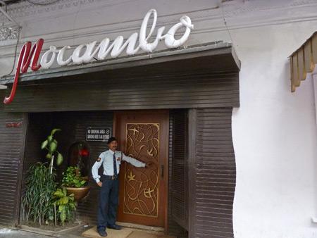 Mocambo restaurant in Kolkata, India.