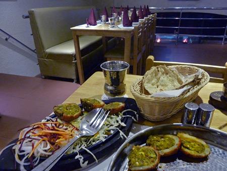 Dinner at Punj-Aab in Kolkata, India.