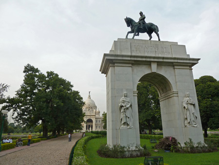 The backside of Victoria Memorial in Kolkata, India.