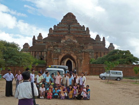 The gigantic Dhammayangyi Pahto temple in Bagan, Myanmar.