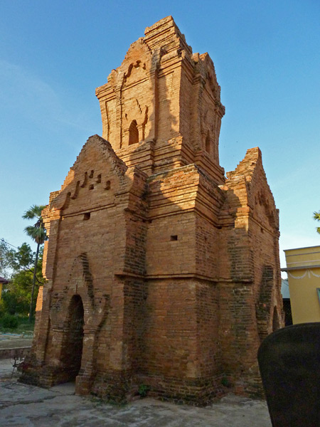 An odd brick temple at Shwezigon Pagoda in Nyaung-U, Myanmar.
