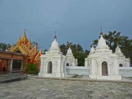 The Northeast section of  Kuthodaw Pagoda in Mandalay, Myanmar.