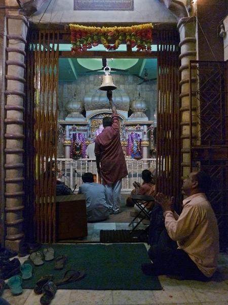 A Hindu jam session goes down at Bhawani temple in Paharganj, Delhi, India.