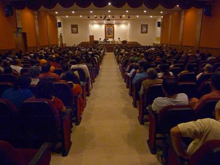 Ramakrishna Mission auditorium in Paharganj, Delhi, India.