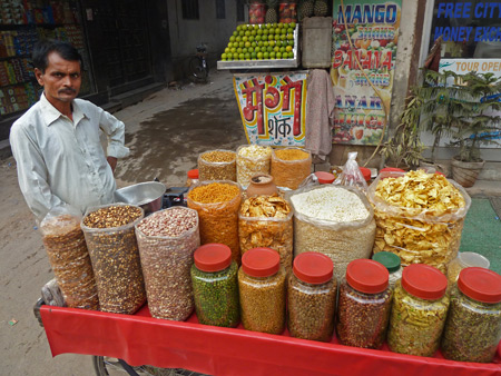 Spice Man is ready to tickle your tastebuds in Paharganj, Delhi, India.