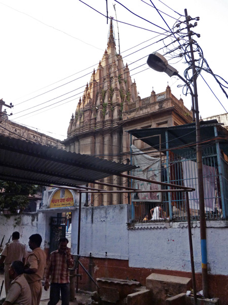 A small neighborhood Hindu temple in the back lanes of Varanasi, India.