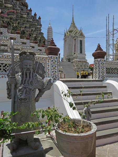Wat Arun in Thonburi, Bangok, Thailand.