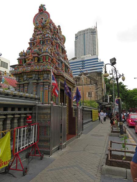 The Sri Maha Mariamman temple in Silom, Bangkok, Thaland.