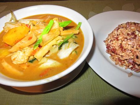Red Curry at May Kaidee's in Banglamphu, Bangkok, Thailand.