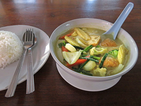 Yellow Curry at Tony's Place in Ayutthaya, Thailand.