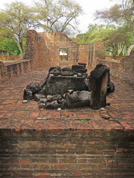 Picturesque ruins at Wat Phra Ram in Ayutthaya, Thailand.