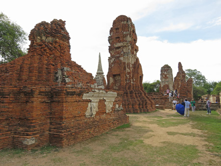 The ruins of Wat Maha That in Ayutthaya, Thailand.