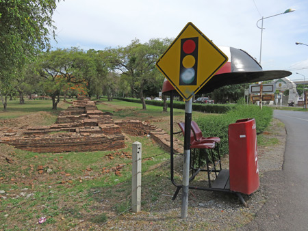 Some roadside ruins in Ayutthaya, Thailand.