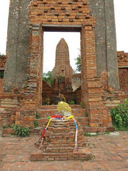 Wat Pakkran in Ayutthaya, Thailand.
