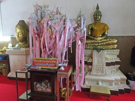 Buddha images at Wihan Phra Mongkhon Bhopit in Ayutthaya, Thailand.
