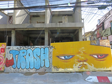 More nice street art in Chiang Mai, Thailand.