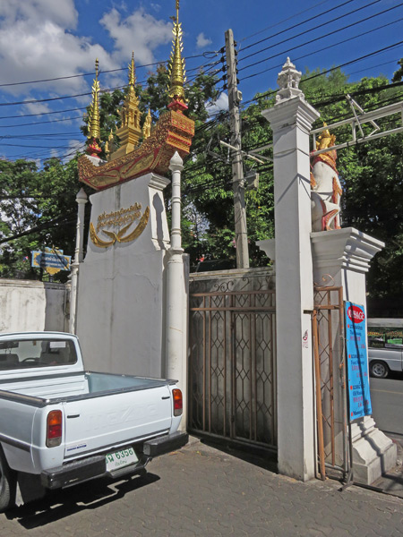A gate at Wat Sumpow in Chiang Mai, Thailand.