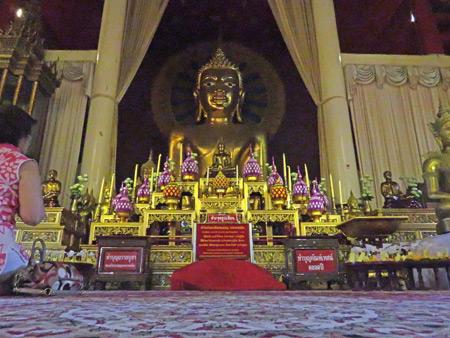 The main Buddha image at Wat Phra Singh in Chiang Mai, Thailand.
