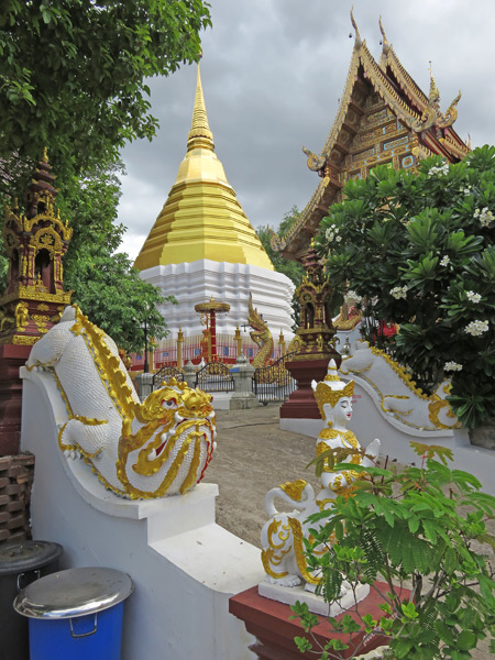 A whimsical wonderland at Wat That Kham in Chiang Mai, Thailand.