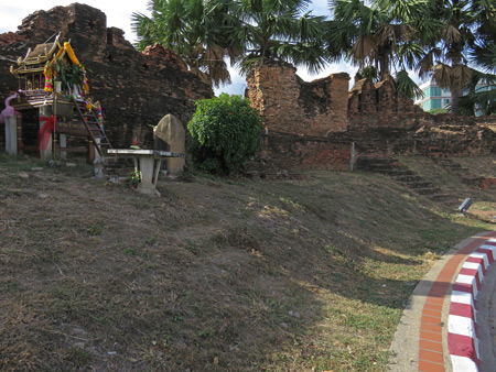 Ruins on the northwest corner of the moat in Chiang Mai, Thailand.