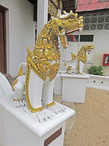 Open wide and say ah! Wat Sai Moon Mueng in Chiang Mai, Thailand.