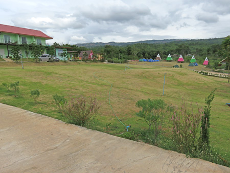 The rooms, teepees and tents at the Mountain Green Resort in Dan Sai, Thailand.
