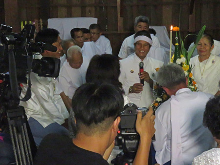 A Bo Si or Summoning of the Spirits ceremony at Chao Pho Kuan's house in Dan Sai, Thailand.