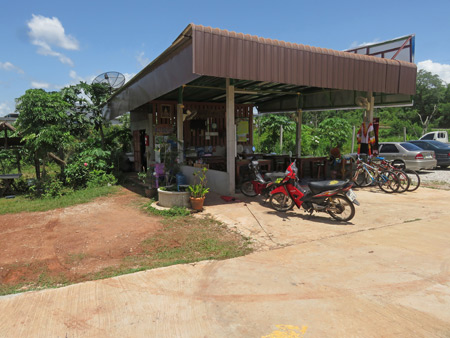 The cafe at the Mountain Green Resort in Dan Sai, Thailand.