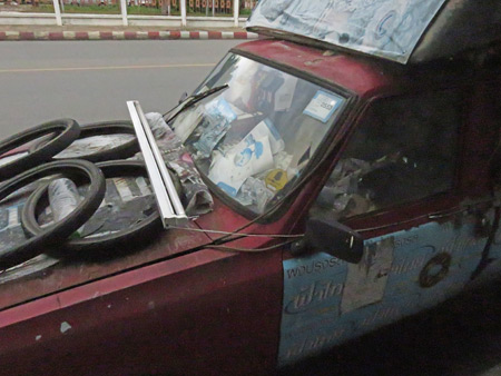 A junked-up truck in Phitsanulok, Thailand.