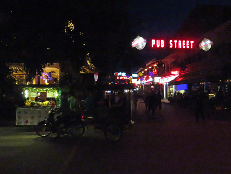 The entrance to Pub Street in Siem Reap, Cambodia.