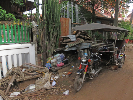 A raw back lane scene in Siem Reap, Cambodia.