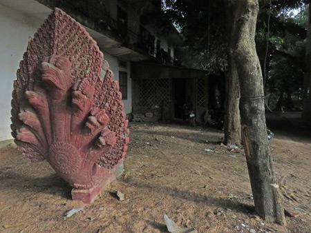 A seven-headed dragon at Wat Bo in Siem Reap, Cambodia.
